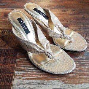 Nina metallic sandals